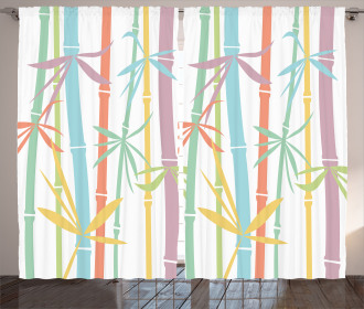 Colorful Bamboo Tree Curtain
