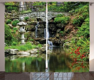 Waterfall Asian Garden Curtain