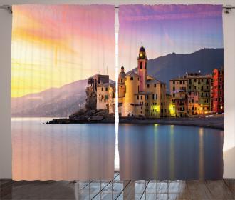 Old Mediterranean Town Curtain
