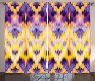 Indonesian Dying Boho Curtain