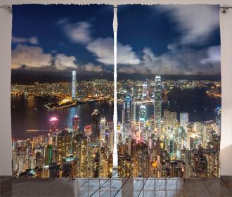 Night View Hong Kong Curtain