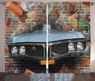 Graffiti Style Street Art Curtain