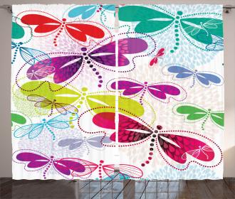 Hydrangea Dragonflies Curtain