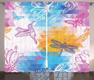 Butterflies Dragonflies Curtain