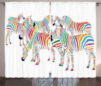 Colorful Animals Cute Curtain