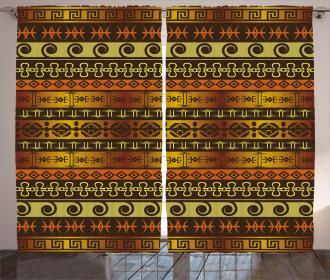 Geometric Indigenous Art Curtain