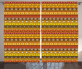 Ancient Indigenous Art Curtain