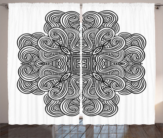 Ancient Celtic Art Curtain