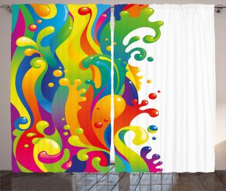Rainbow Splash Curtain