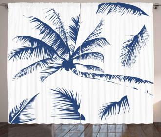 Coconut Palm Tree Curtain