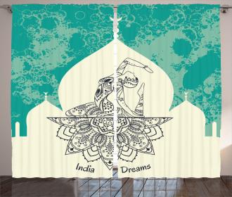 Mystical Mandala Yoga Curtain