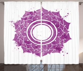 Mandala Chakra Splash Curtain