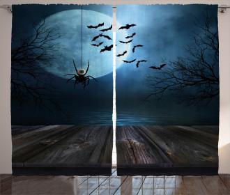 Lake Scene Bat Curtain