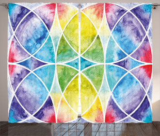 Rainbow Grunge Curtain