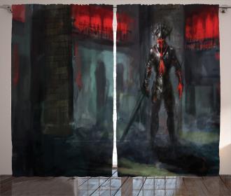 Fantasy Temple Gothic Curtain