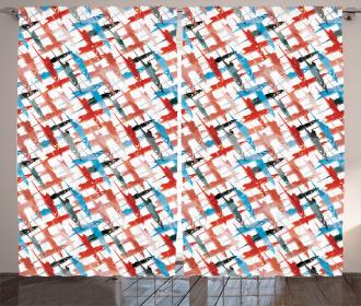 Grunge Graffiti Pattern Curtain