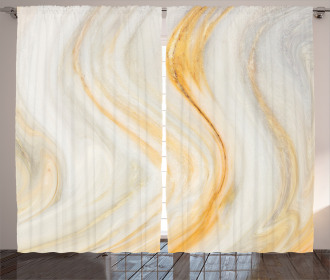 Wavy Marble Effect Curtain
