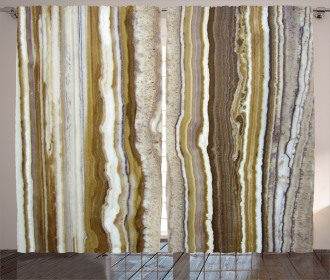 Marble Rock Patterns Curtain