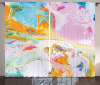 Surreal Abstract Art Curtain
