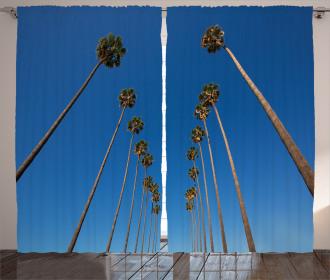 Palms Summertime Curtain