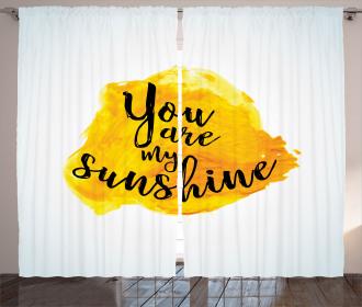 Yellow Gray Romantic Curtain