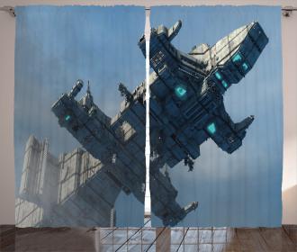 Cosmos Alien Ship Curtain