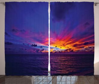 Dream Sunset Magenta Curtain