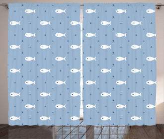 Little Fish Aquatic Life Curtain