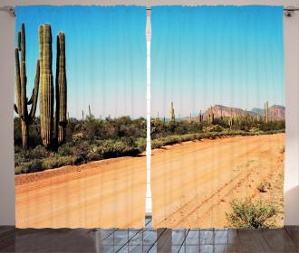 American Desert Cactus Curtain
