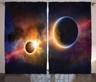 Planet Earth Stars Curtain