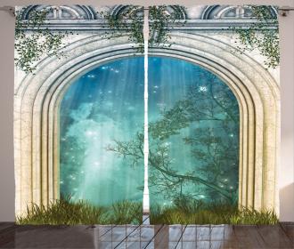 Fairytale Door Stars Curtain