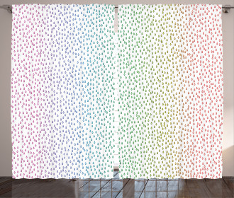 Rainbow Raindrops Curtain