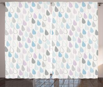 Droplets Artsy Curtain