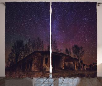 Sky Cosmos Galaxy Stars Curtain