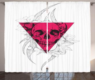 Floral Geometry Triangular Curtain