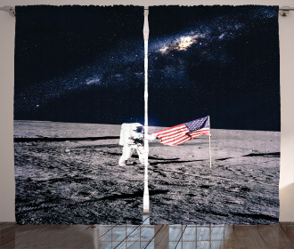 Milky Way American Flag Curtain