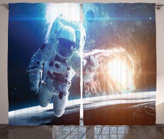 Galaxy Cosmonaut Space Curtain
