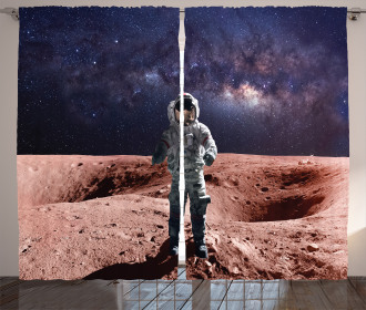 Spacewalk on Mars Outer Curtain