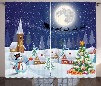 Winter Landscape Curtain