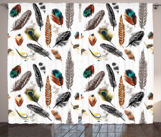 Vivid Feathers Vivid Art Curtain