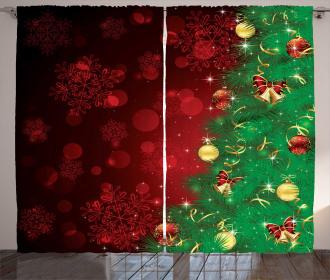 Jingle Bells Trees Curtain