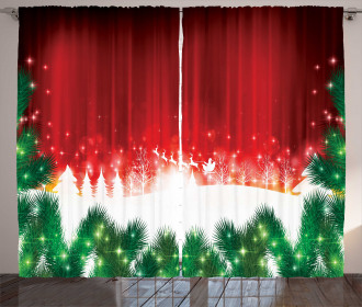 Xmas Theme Festive Curtain