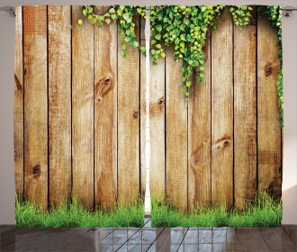 Wooden Garden Fence Curtain
