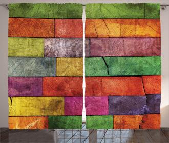 Rainbow Timber Art Curtain
