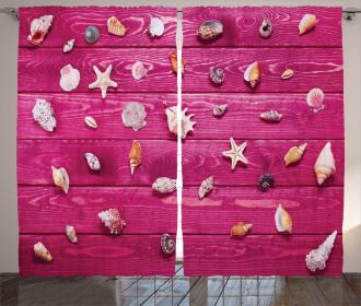 Seashells Vintage Curtain