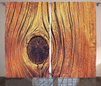 Aged Wooden Texture Curtain