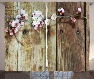 Blooming Spring Flowers Curtain