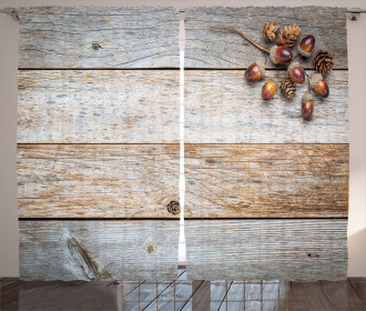 Acorns and Cons Timber Curtain