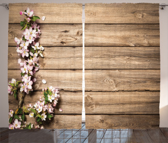 Blooming Orchard Spring Curtain
