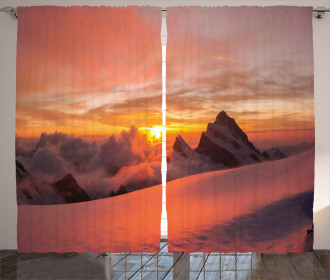 Sunrise in Swiss Alps Curtain